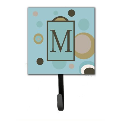 Monogram Dots Wall Hook Letter: M