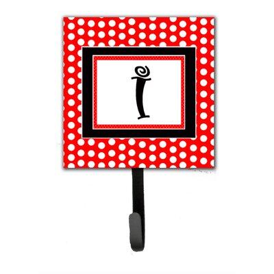 Monogram Polka Dots Wall Hook Letter: I