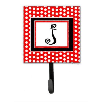 Monogram Polka Dots Wall Hook Letter: J