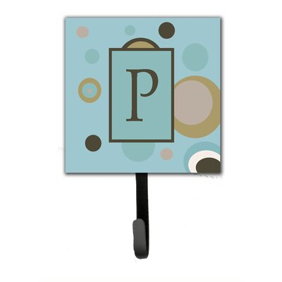 Monogram Dots Wall Hook Letter: P