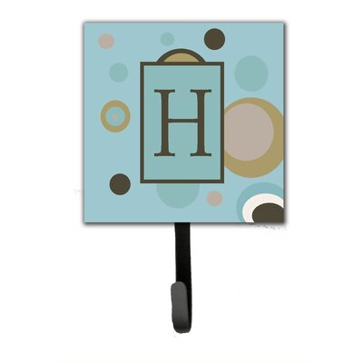 Monogram Dots Wall Hook Letter: H