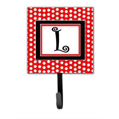 Monogram Polka Dots Wall Hook Letter: L