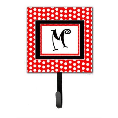 Monogram Polka Dots Wall Hook Letter: M