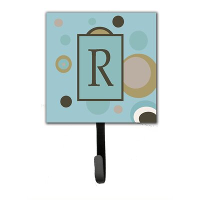 Monogram Dots Wall Hook Letter: R