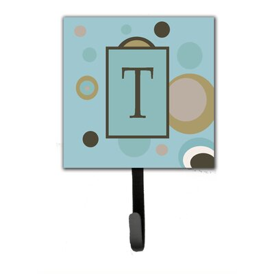 Monogram Dots Wall Hook Letter: T