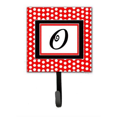Monogram Polka Dots Wall Hook Letter: O