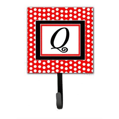Monogram Polka Dots Wall Hook Letter: Q