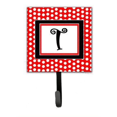 Monogram Polka Dots Wall Hook Letter: T