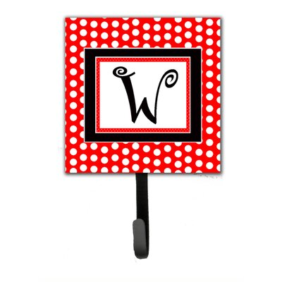 Monogram Polka Dots Wall Hook Letter: W