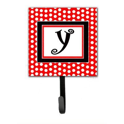 Monogram Polka Dots Wall Hook Letter: Y