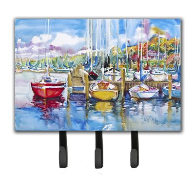 Paradise Yacht Club Sailboats Key Holder