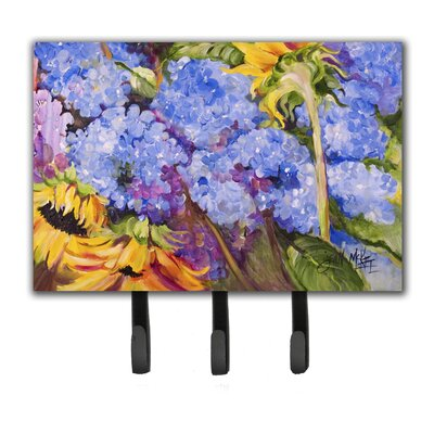 Hydrangeas and Sunflowers Key Holder