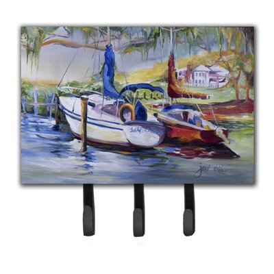 Lucky Dream Sailboat Leash Holder and Key Hook