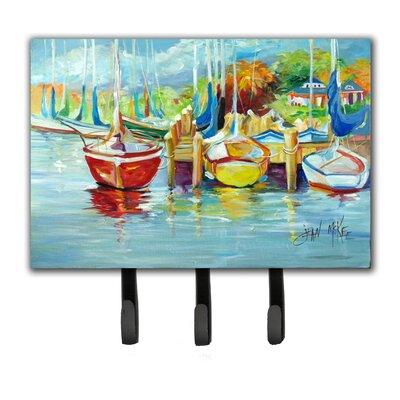 On The Dock Sailboats Key Holder