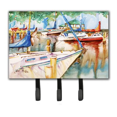 Sailboats at The Gazebo Leash Holder and Key Hook