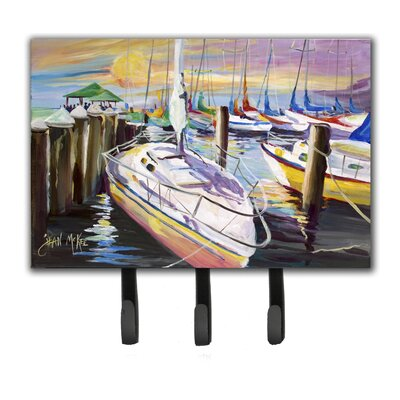 Sailboats at The Fairhope Yacht Club Docks Leash Holder and Key Hook