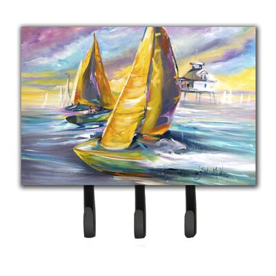 Sailboat with Middle Bay Lighthouse Key Holder
