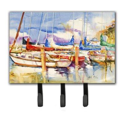 End Stall Sailboats Leash Holder and Key Hook