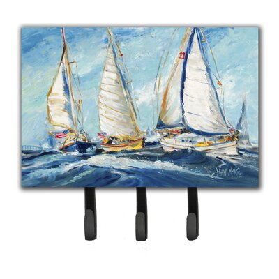 Roll Me Over Sailboats Leash Holder and Key Hook