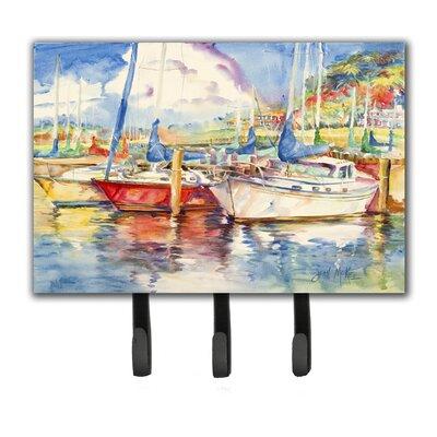 Three Sailboats Leash Holder and Key Hook