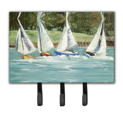 Sailboats on The Bay Leash Holder and Key Hook