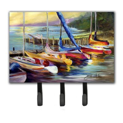 Sailboats at Sunset Leash Holder and Key Hook