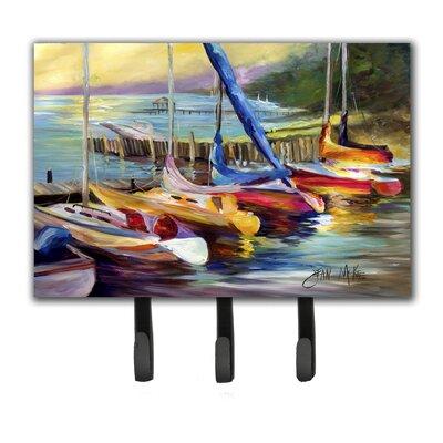 Sailboats at Sunset Leash Holder and Key Hook