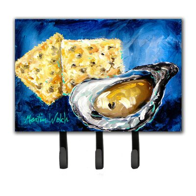 Oysters Two Crackers Leash Holder and Key Hook