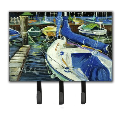 Night on The Docks Sailboat Leash Holder and Key Hook