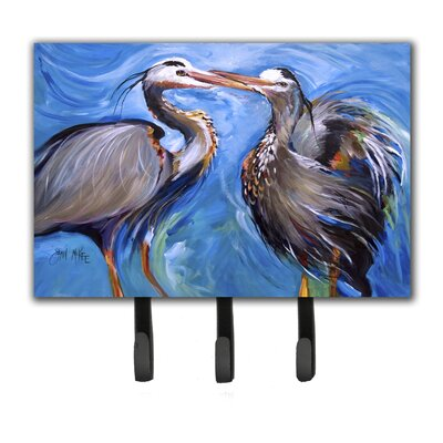 Heron Love Leash Holder and Key Hook