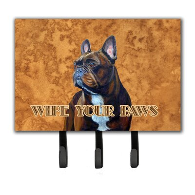 French Bulldog Wipe Your Paws Leash Holder and Key Hook