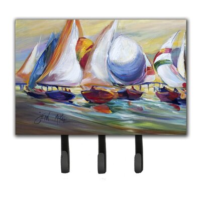 Sailboat Race in Dauphin Island Leash Holder and Key Hook