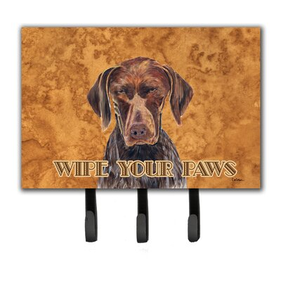 German Shorthai Pointer Wipe Your Paws Leash Holder and Key Hook