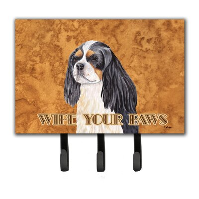 Cavalier Spaniel Wipe Your Paws Leash Holder and Key Hook