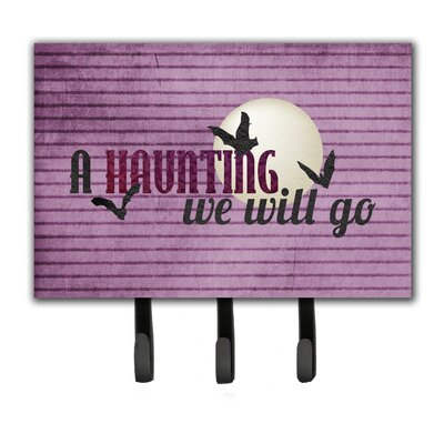 A Haunting We Will Go Halloween Leash Holder and Key Hook