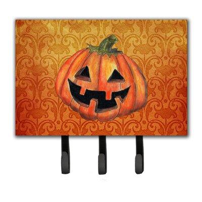 October Pumpkin Halloween Leash Holder and Key Holder