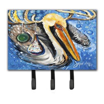 Pelican Dressed As a Reindeer Leash Holder and Key Hook