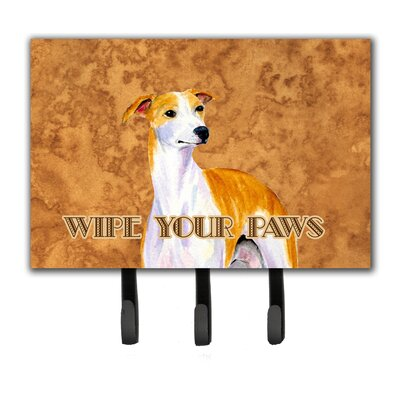 Whippet Wipe Your Paws Leash Holder and Key Hook