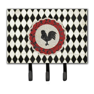Rooster Harlequin and Leash Holder and Key Hook