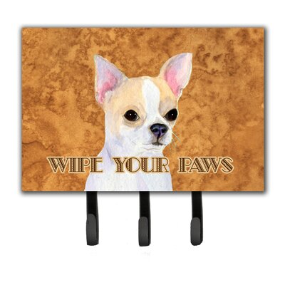 Chihuahua Wipe Your Paws Leash Holder and Key Holder