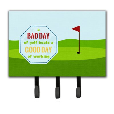 A Bad Day at Golf Leash Holder and Key Hook