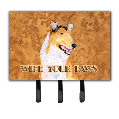 Collie Smooth Wipe Your Paws Leash Holder and Key Holder