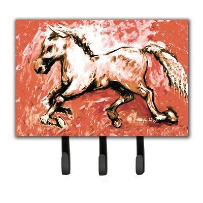 Shadow The Horse in Leash Holder and Key Hook