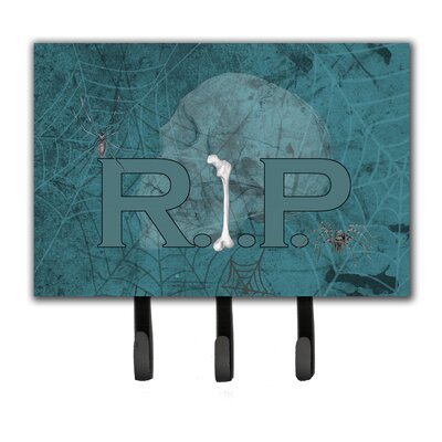 RIP Rest in Peace with Spider Web Halloween Leash Holder and Key Hook