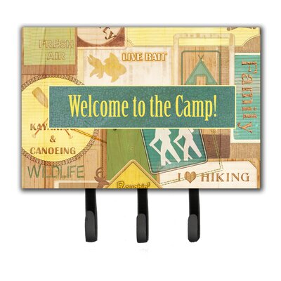 Welcome To The Camp Leash Holder and Key Hook