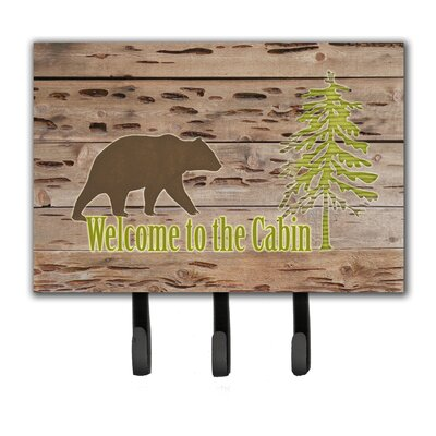 Welcome To The Cabin Leash Holder and Key Hook