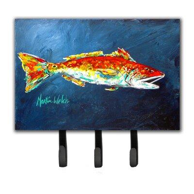 Red Fish For Jarett Leash Holder and Key Hook