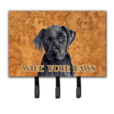 Labrador Wipe Your Paws Leash Holder and Key Hook