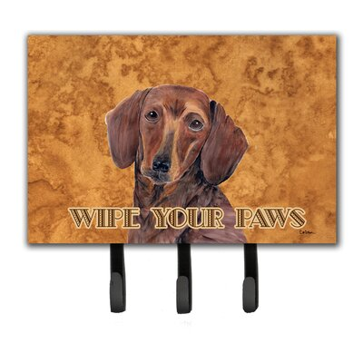 Dachshund Wipe Your Paws Leash Holder and Key Hook