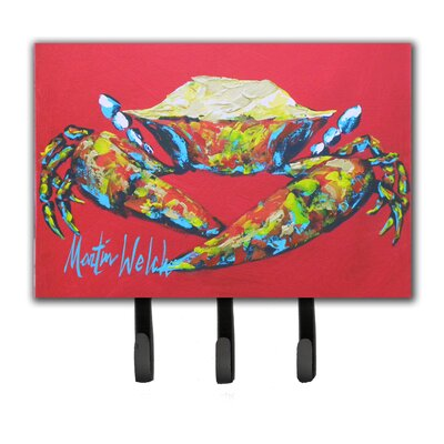 Crab Seafood One Leash Holder and Key Hook